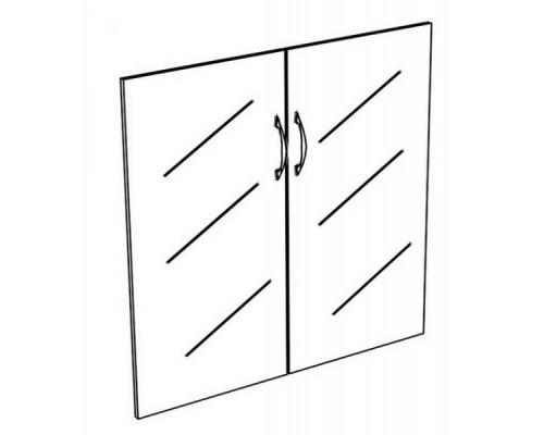 Двери стеклянные низкие прозрачные (2шт.) Комфорт МП2 К 622