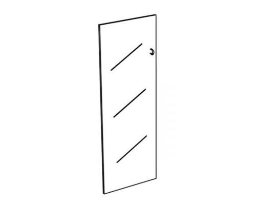 Дверь стеклянная средняя прозрачная (1шт) Комфорт МП2 К 623