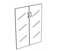 Двери стеклянные средние прозрачные (2шт) Комфорт МП2 К 604