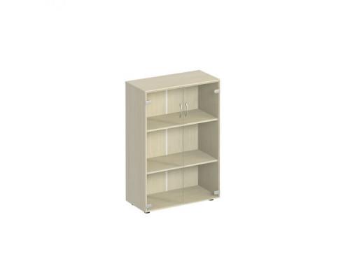 Шкаф для документов с прозрачным стеклом Комфорт МП2 К 366