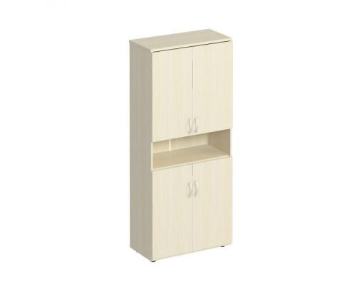 Шкаф для документов закрытый 4-дверный с нишей Комфорт МП2 К 374