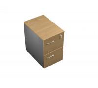 Тумба приставная 2-ящичная М (два файловых ящика) с замком UP! АП 201 ГА