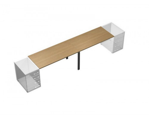 Рабочий стол (2х120) без опор (без тумб приставных) UP! АП 0116 ГА