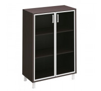 Шкаф для документов, двери стеклянные в алюминиевой раме Борн В 420-824