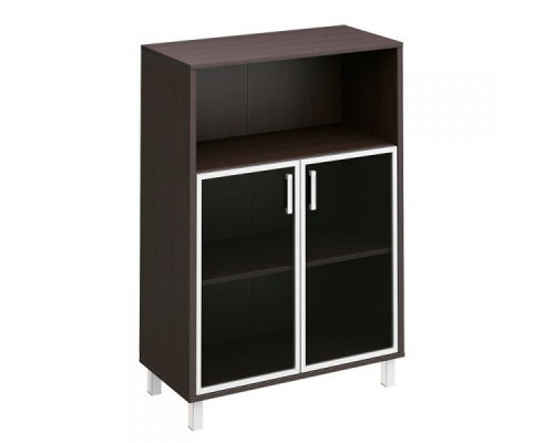 Шкаф для документов, двери стеклянные в алюминиевой раме + ниша Борн В 420-823
